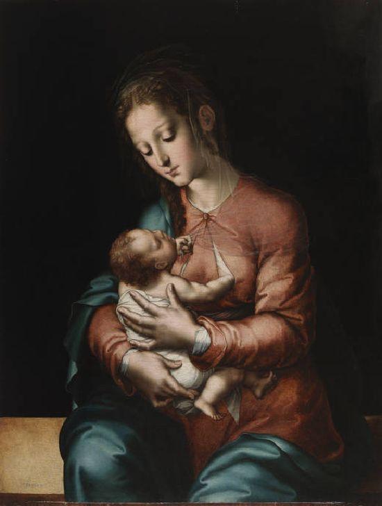 Luis de Morales El Divino. Virgen de la Leche