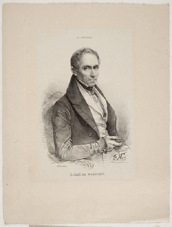 Federico de Madrazo. Litografía de su padre, José de Madrazo