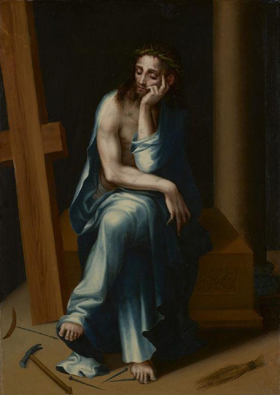 Luis de Morales. Cristo varón de dolores. 1567