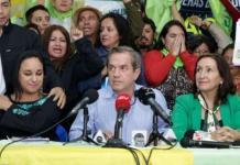 Ricardo Patiño fue posesionado como presidente nacional de AP, según anunció la directiva nacional en conferencia de prensa desde la sede de la agrupación política. Foto: Andes/AP