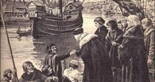 Grabado que representa la partida de Cabot hacia Terranova desde Bristol, por encargo de Richard Ameryke