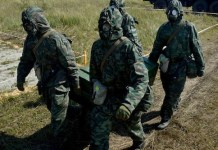 Especialistas rusos en la destrucción de armas quimicas. Foto: Vitaliy Ankov / Sputnik