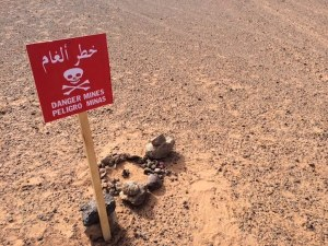Minas antipersona señalizadas por el Polisario en el Sáhara