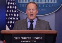 Sean Spicer, portavoz de la Casa Blanca