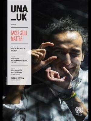 Portada dedicada a Shawkan en la revista de Naciones Unidas en Reino Unido