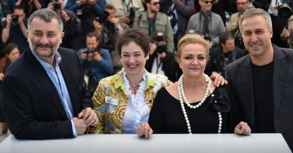 Sieranevada: director y actores en Cannes, mayo de 2016