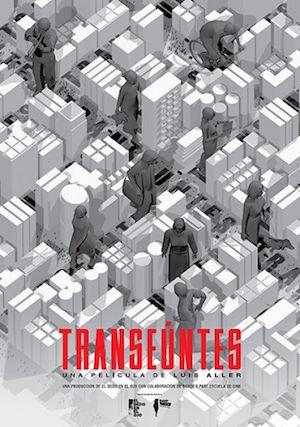 Transeuntes, cartel de la película de Luis Aller
