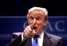 Trump amenazante