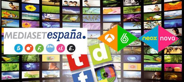 Canales de televisión de Mediaset y Atresmedia