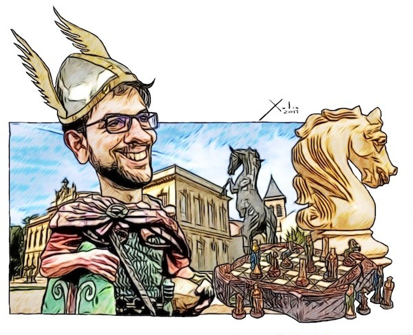 Xulio Formoso: El héroe galo del ajedrez Maxime Vachier-Lagrave con el fondo del castillo de Asnières-sur-Seine.