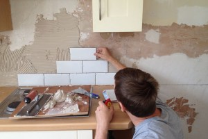 Starting the tiling 1