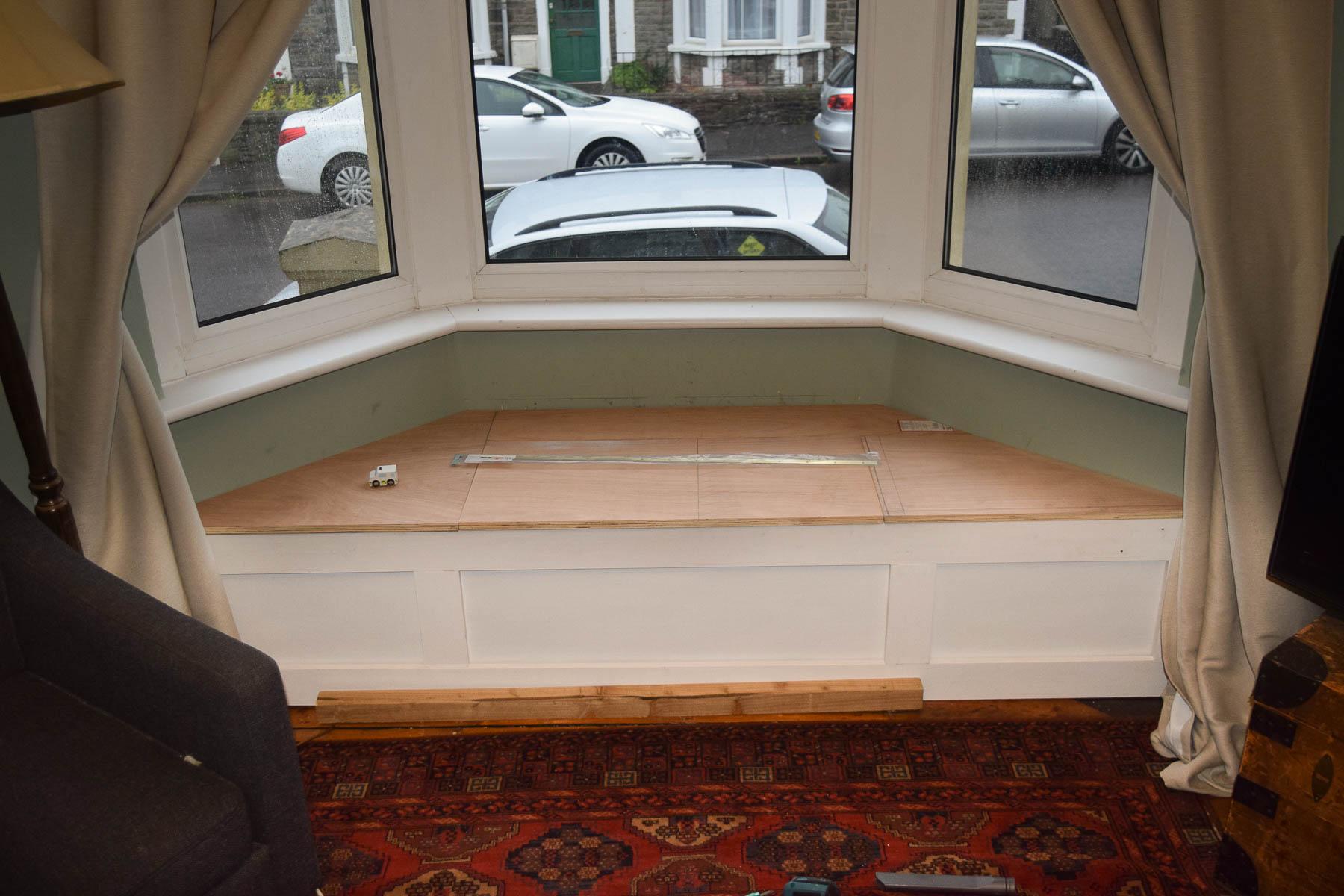 Uncut Window Seat Video Part - 39: Amazing Victorian Bay Window Seat Part - 2: Window Seat Front Face Primed
