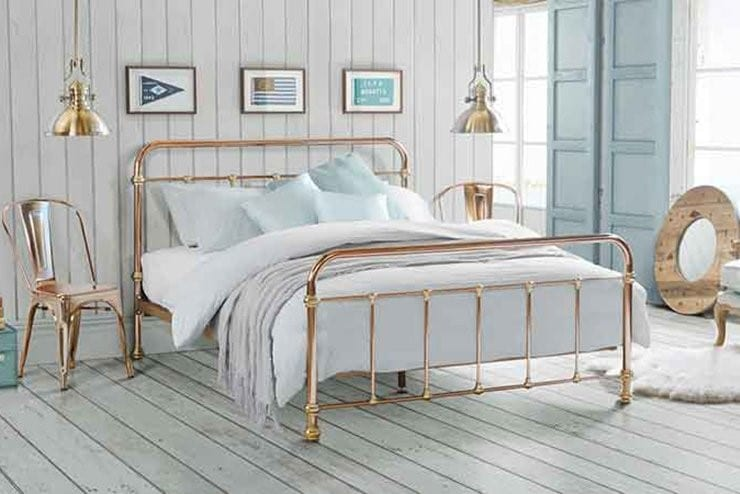 Copper Brass bed