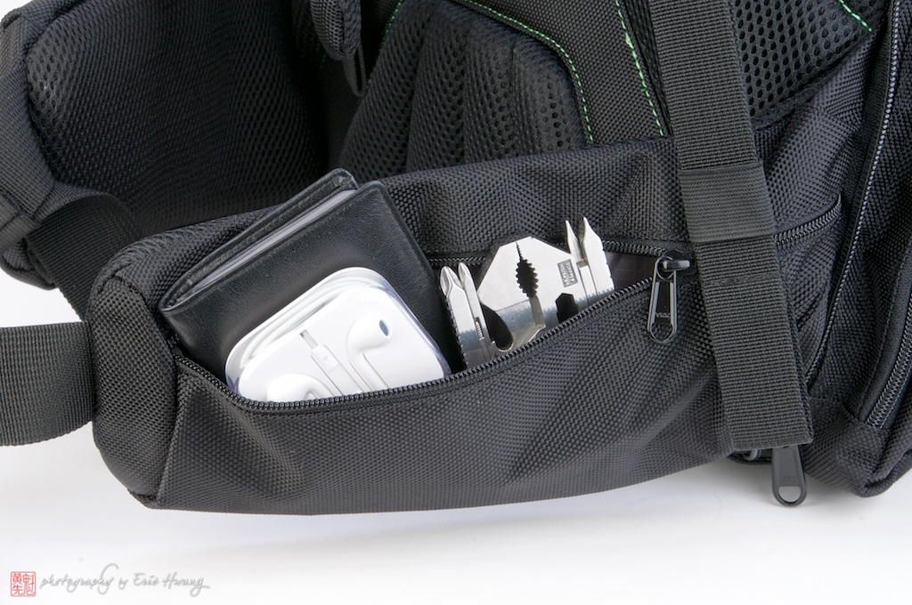 Hip belt pockets hold a lot