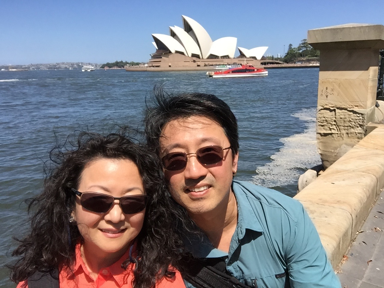 Selfie moment by the Sydney Harbor Bridge