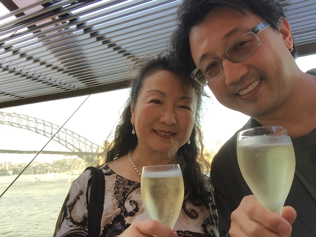 Toasting with Aussie Chandon at the Opera House