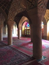 Morning light in mosque in Shiraz