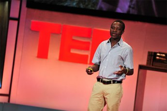 "William Kamkwamba at TEDGlobal 2009, Session 7: ""Radical development,"" July 23, 2009, in Oxford, UK. Credit: TED / James Duncan Davidson."