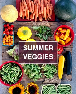 summer veggies in CSA share
