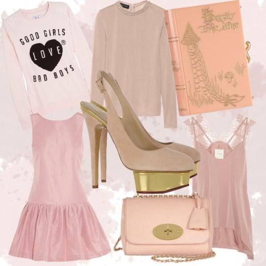 Prendas net a porter rosa palo, tendencias