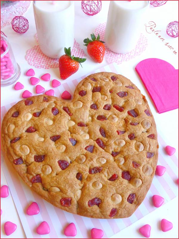 Cookies aux fraises et au chocolat blanc