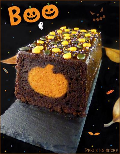 Cake surprise citrouille {Halloween}