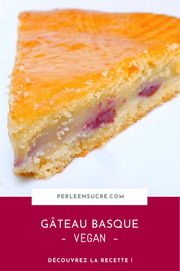 Gâteau basque {vegan}