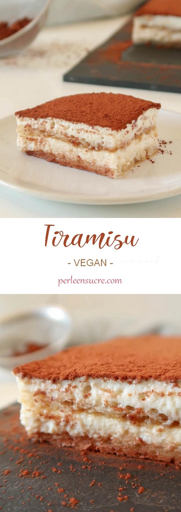 Tiramisu sans lactose et sans oeufs {vegan}