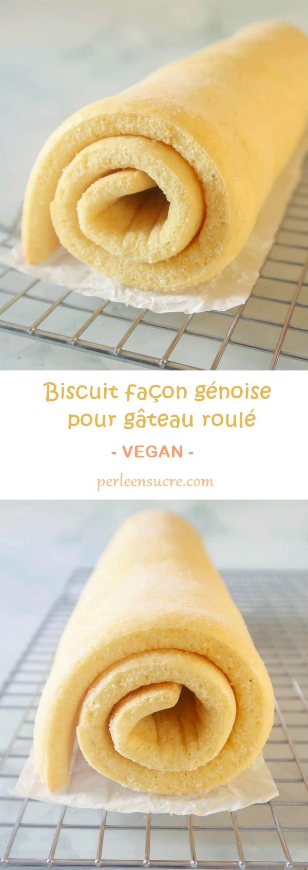 Biscuit façon génoise pour gâteau roulé sans oeufs {vegan}