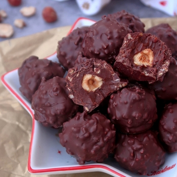 rocher chocolat praliné vegan