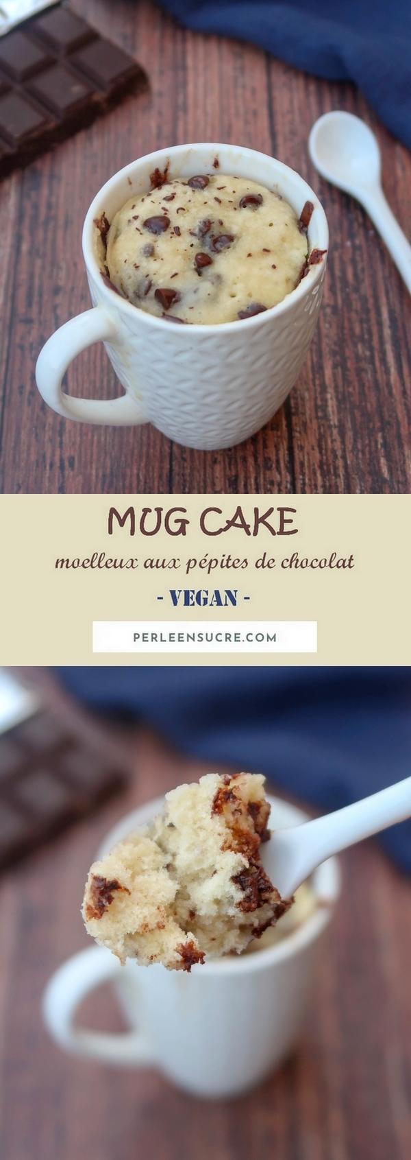 Mug cake moelleux aux pépites de chocolat {vegan}