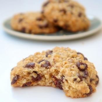 Cookies aux flocons d'avoine et au chocolat {vegan} - Perle en sucre