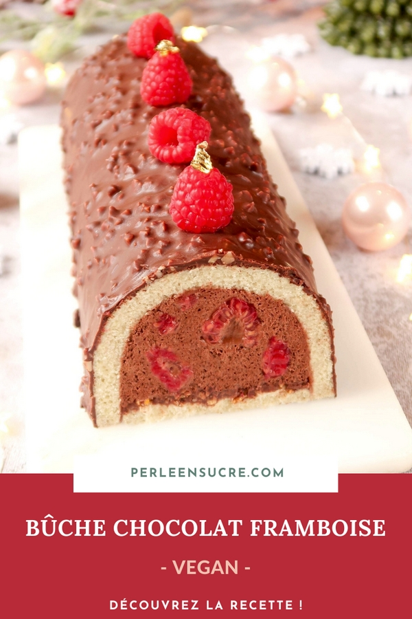 Bûche chocolat framboise {vegan}