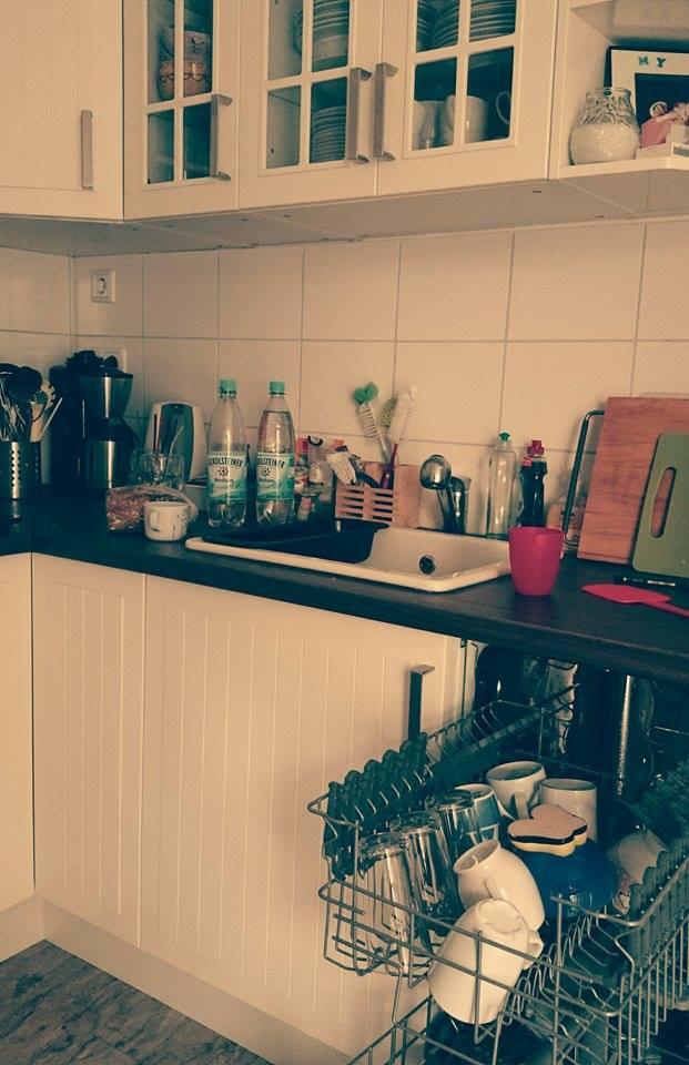 ...die Küche aufgeräumt...