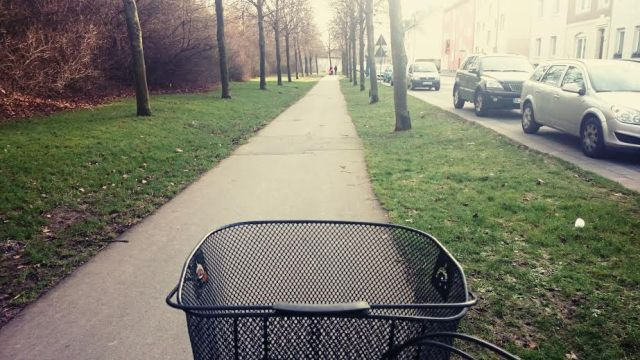 Dann haben wir uns auf's Fahrrad geschwungen...