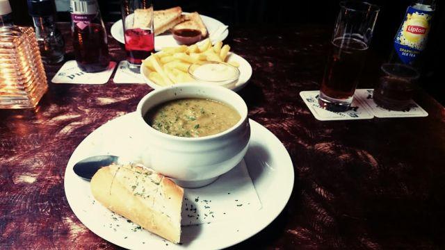 Lunch mit der Lieblingskollegin.