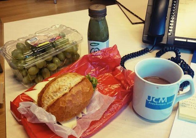 Büro-Frühstück