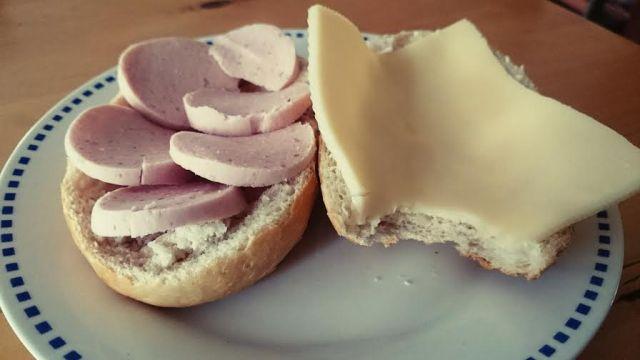 Frühstück. Heute mal nicht vegetarisch.