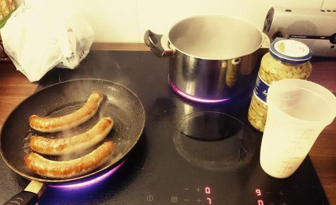 Dann habe ich mich ans Kochen gemacht.