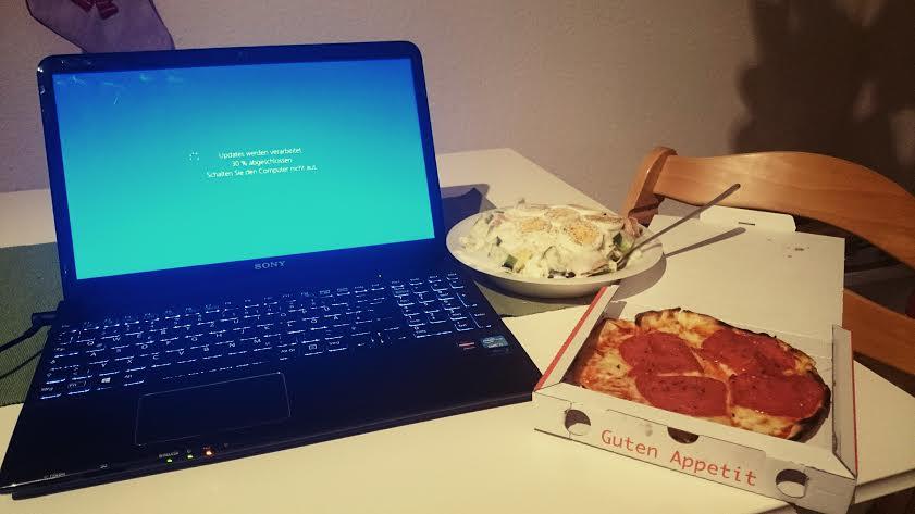 dinner und bloggen