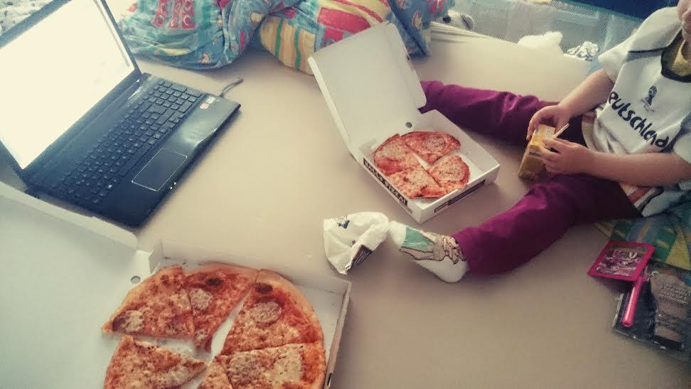 pizza und fussball
