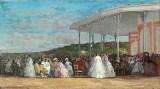 Eugène Boudin - Concert au casino de Deauville 1863 (National Gallery Washington)