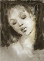 Léonor Fini - visage_endormi
