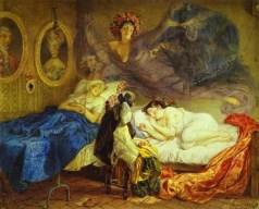 Karl Brulloff - Rêve de grand-mère et petite fille - 1829
