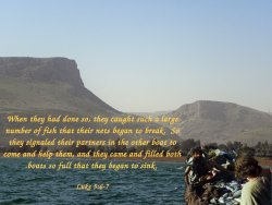 One day as Jesus was standing by the Lake of Gennesaret,