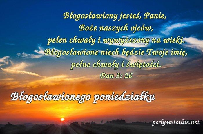 Błogosławiony jesteś Panie, Boże naszych Ojców