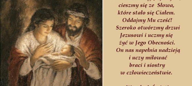 Radosnych, rodzinnych i pełnych Obecności Bożej Świąt!