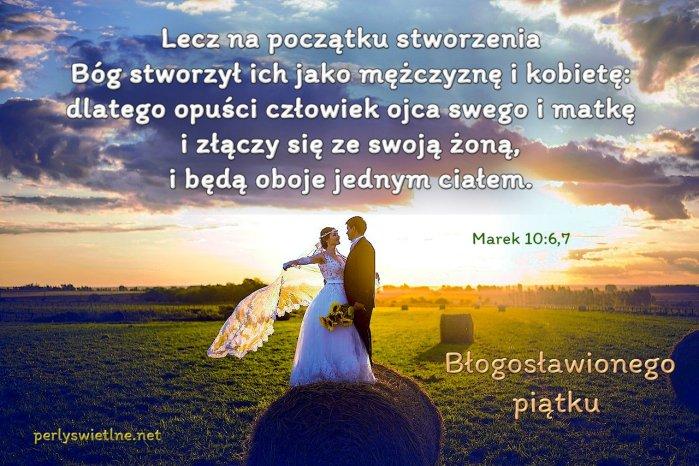 Lecz na początku stworzenia Bóg stworzył ich jako mężczyznę i kobietę: