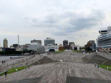 Jokohama-panorama z promenady Terminala Pasażerskiego