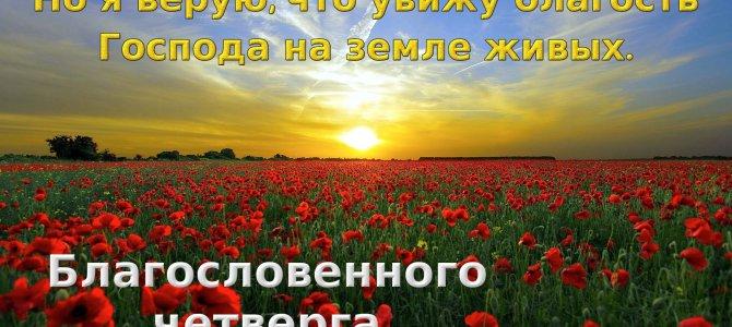 Но я верую, что увижу благость Господа на земле живых.